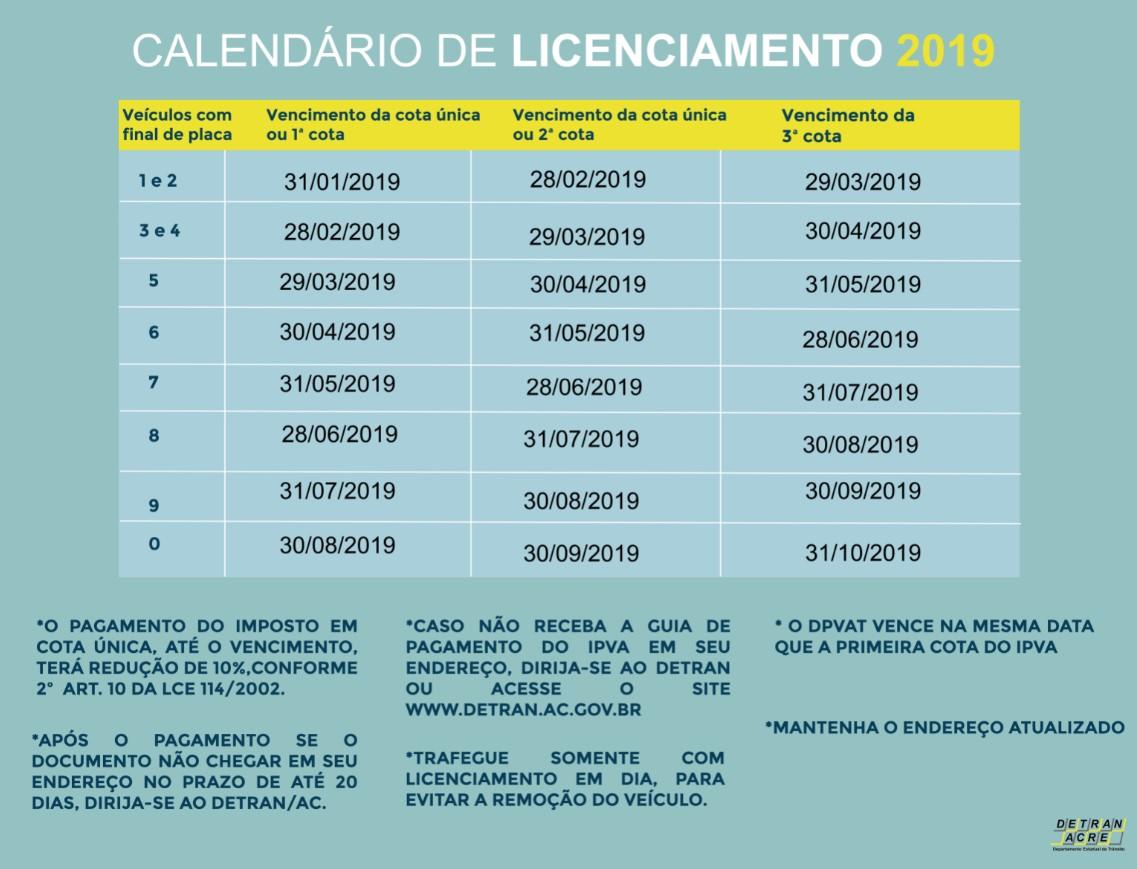 Calendario Final 2019.Noticias
